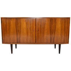 Danish Modern Rosewood Midcentury Credenza by Carlo Jensen for Hundevad