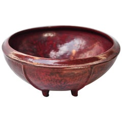 Red Lacquer Food Bowl, Khwet, Burma, Early to Mid-20th Century, Bamboo