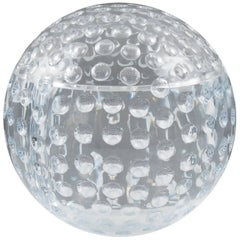 Modern Lucite Ice Bucket Golf Ball Design, circa 1980s