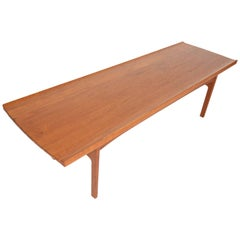 Large Refinished Solid Teak Coffee Table by Tove and Edvard Kindt Larsen