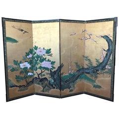Japanese Gold Leaf Screen
