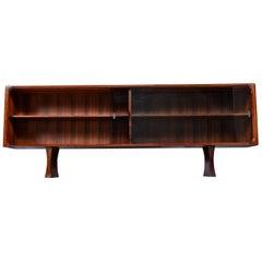 Danish Rosewood Bookcase Display Cabinet by Bernhard Pedersen & Son, 1960s