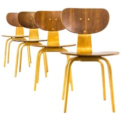 1950s Cees Braakman SB02 Chairs for Pastoe, Set of Four