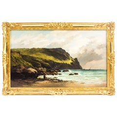 Antique Oil on Canvas Painting by George Ficklin, Signed, 1880