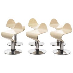 Set of Six Modern Allermuir Low Surf Stools