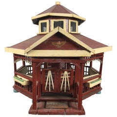 Handmade Folk Art Six-Sided Gazibo / House