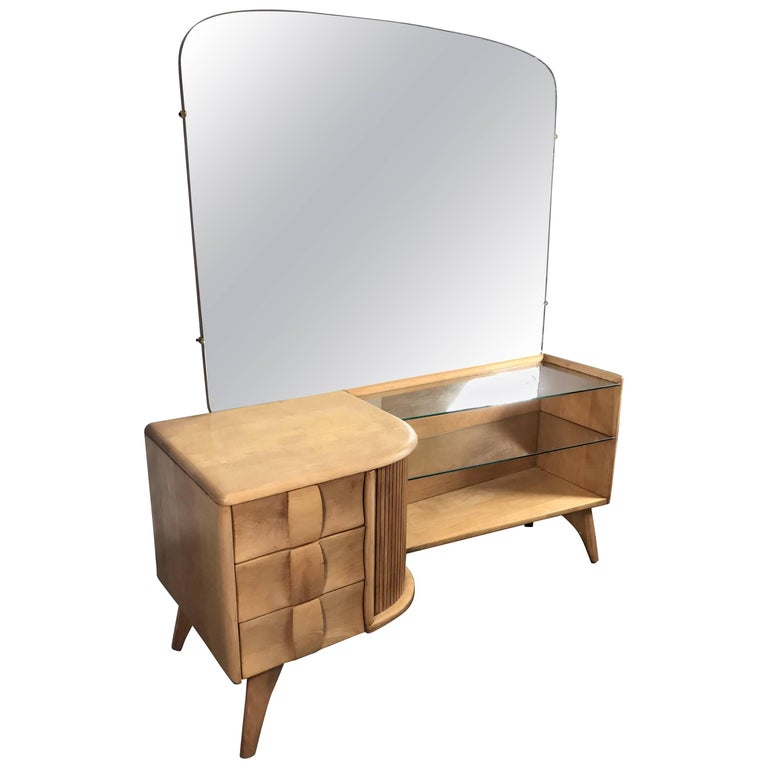 Clic Heywood Wakefield Mid Century Modern Vanity Or Dressing Table For