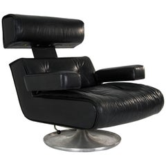 "Osvaldo Borsani ""P103"" Leather Office Chair, Tecno, 1964"