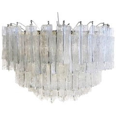 "Beautiful ""Eliche"" Chandelier by Venini, Murano, Italy"