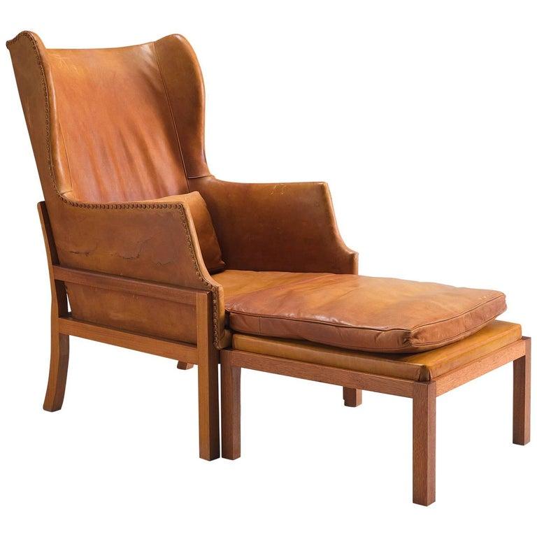 Mogens Koch wingback lounge chair, 1970–79