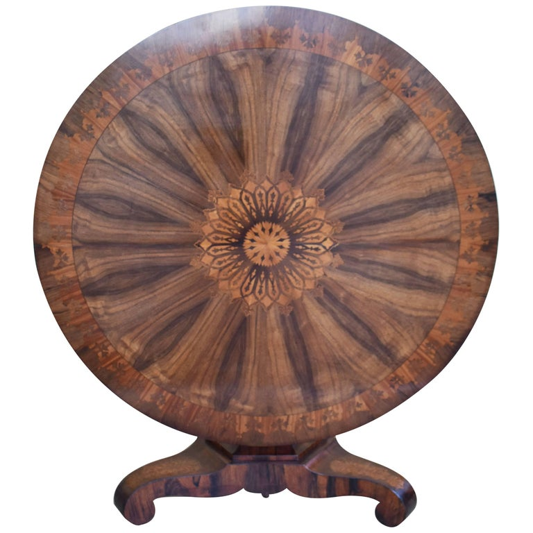 19th Century Regency Rosewood Marquetry Table
