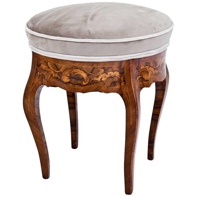 Small Baroque Stool, 18th Century