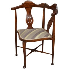 Edwardian Inlaid Corner Chair