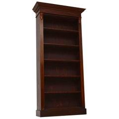 Antique Bespoke Victorian Style Mahogany Open Bookcase