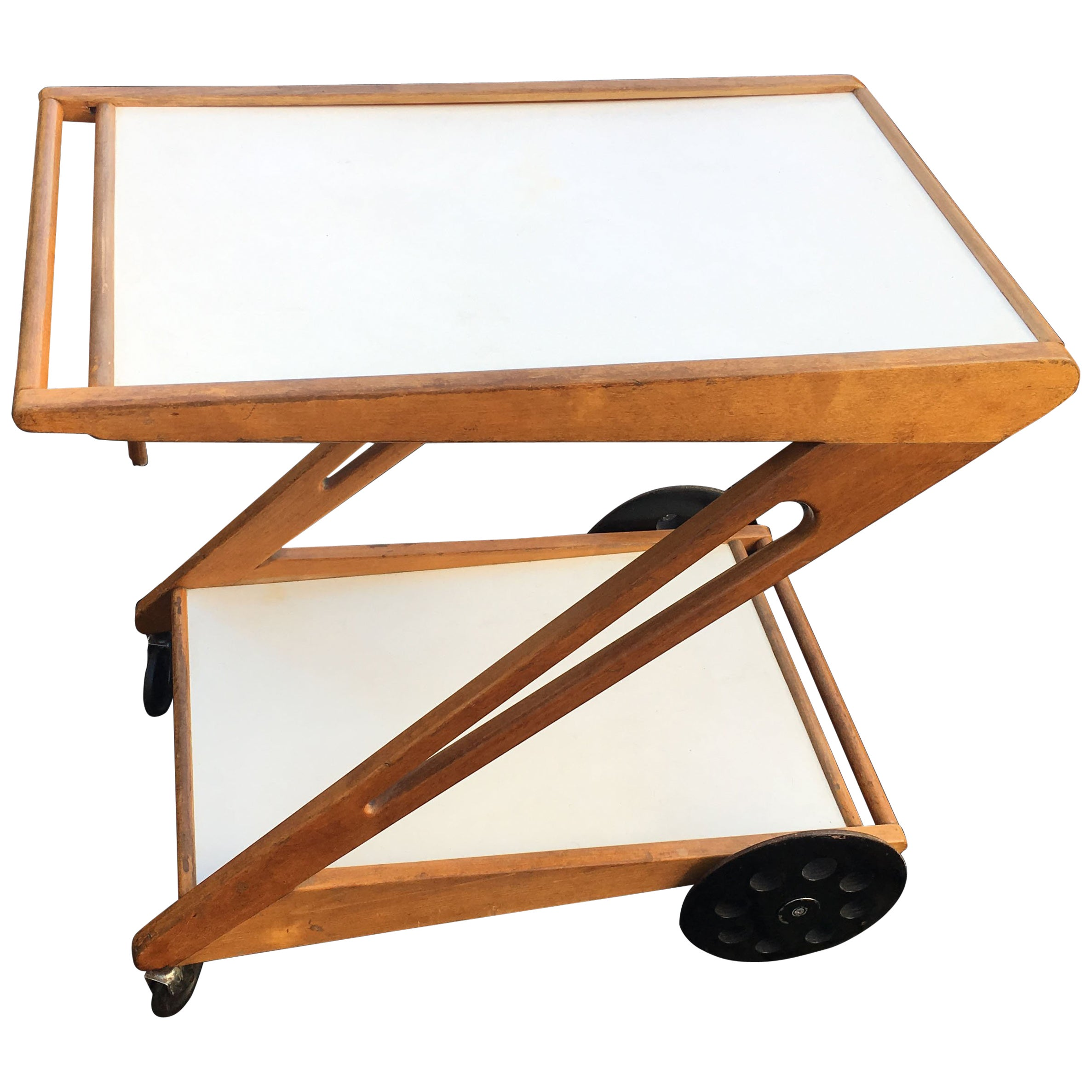 Mobilo Serving Trolley Model PE03 by Cees Braakman for Pastoe