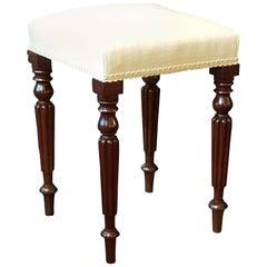 Regency Mahogany Dressing Table Stool