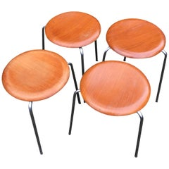 Pair of 'Dot' Stools by Arne Jacobsen for Fritz Hansen