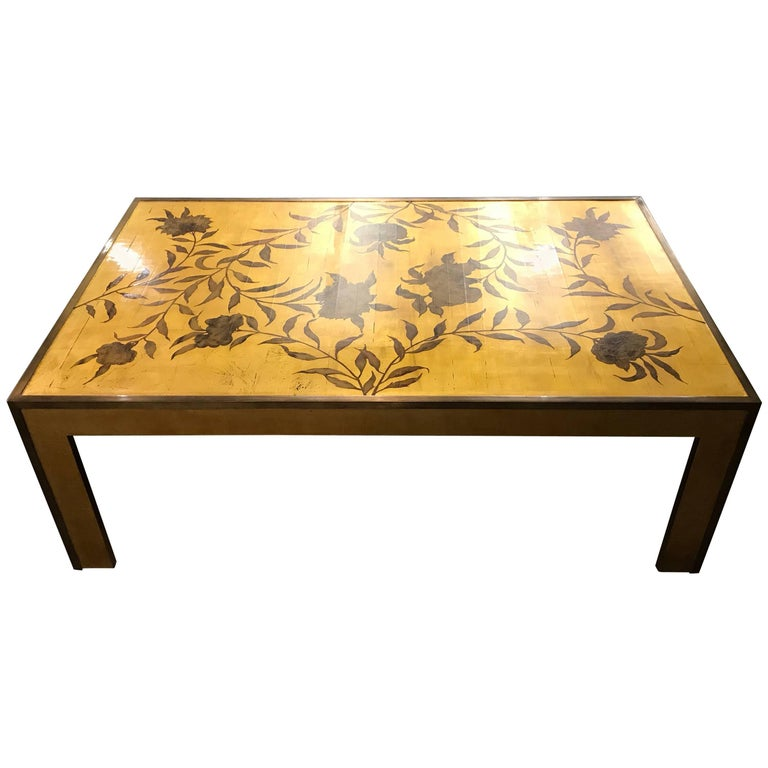Gold Lacquer Coffee Table by Gracie
