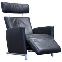 COR Bico Designer Armchair Leather Black One Seat Couch Modern Function