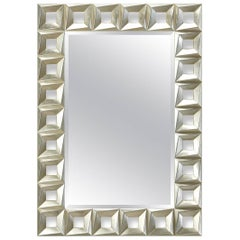Cadrillo Mirror Hand-Carved Wood in Silver or Gold Finish