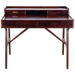 Arne Wahl Iversen Desk or Vanity in Rosewood by Vinde Møbelfabrik, Denmark