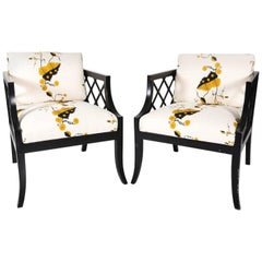 Mid-20th Century Chinoiserie Style Armchairs
