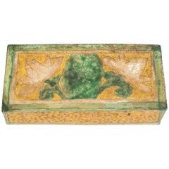 Chinese Sancai Glazed Pottery Pillow