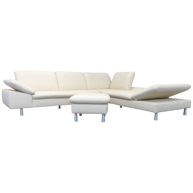 willi schillig loop designer corner sofa set leather beige. Black Bedroom Furniture Sets. Home Design Ideas
