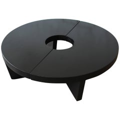 Harvey Probber Mid-Century Modern Ebonized Nuclear Coffee Table