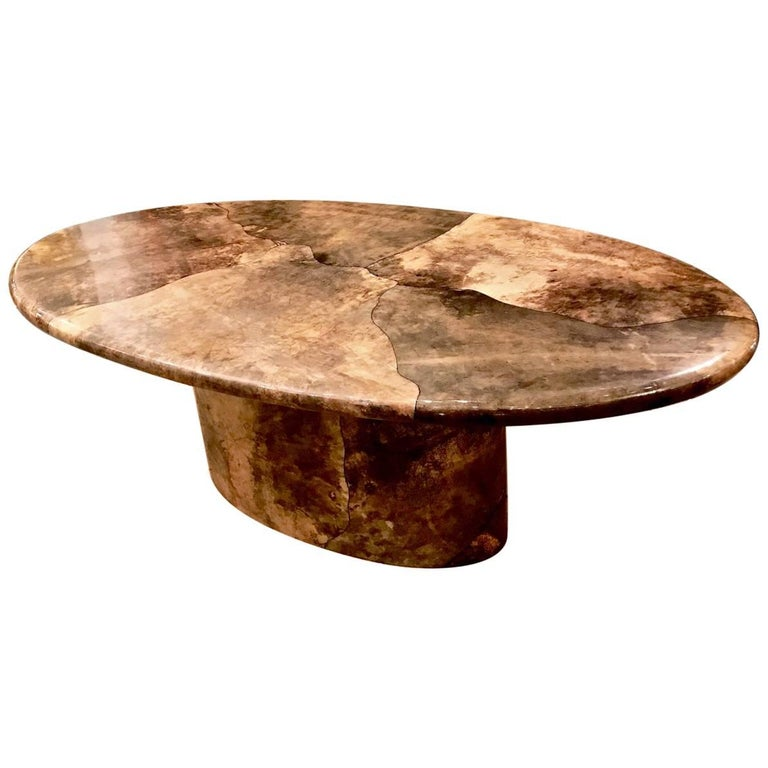 Aldo Tura Goat Skin Dining Table