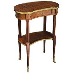 Late 19th Century French Parquetry Two-Tier Kingwood Occasional Table
