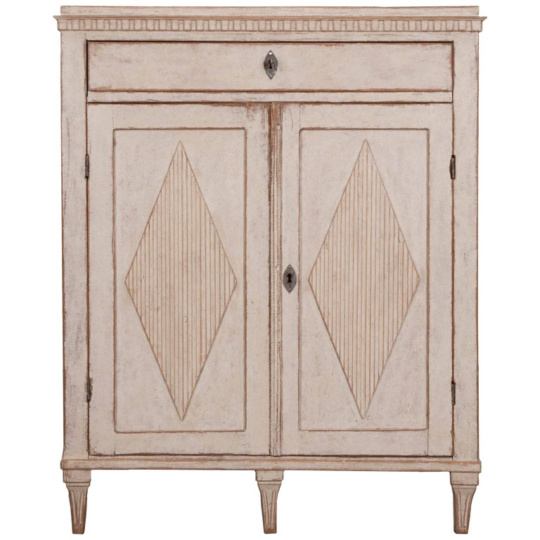 Early 19th Century Swedish Gustavian Painted Buffet