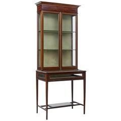 Early 20th Century Mahogany Bijouterie Display Cabinet