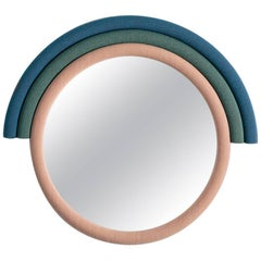 Iris Mirror in Kvadrat Fabric and Clear Mirror