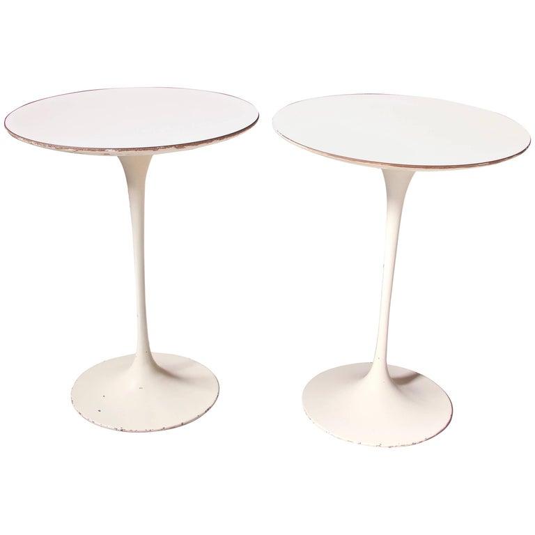 Vintage Pair of Eero Saarinen for Knoll 'Tulip' Side Tables, U.S.A, 1950s