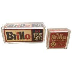 Pop Art Vintage Brillo Boxes in Lucite
