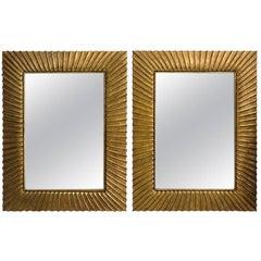 Pair of Monumental Christopher Guy Harrison Gil Bevel Glass Mirrors