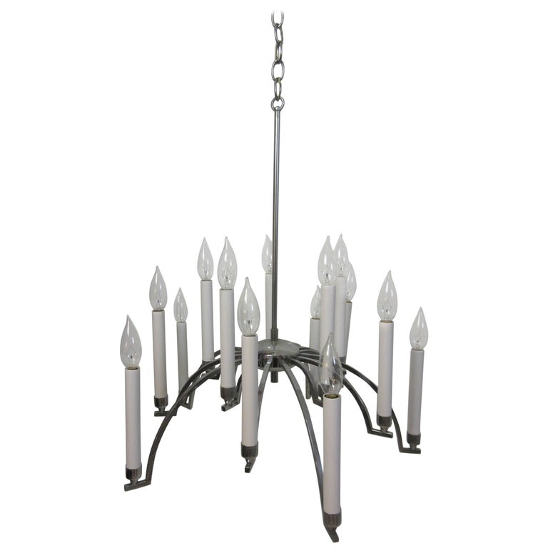 Gaetano Sciolari Chrome Chandelier 1