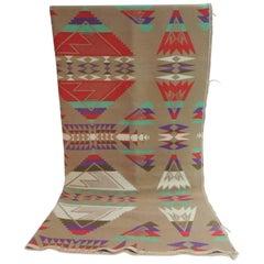 Large Vintage Pendleton Wool Blanket Navajo Style
