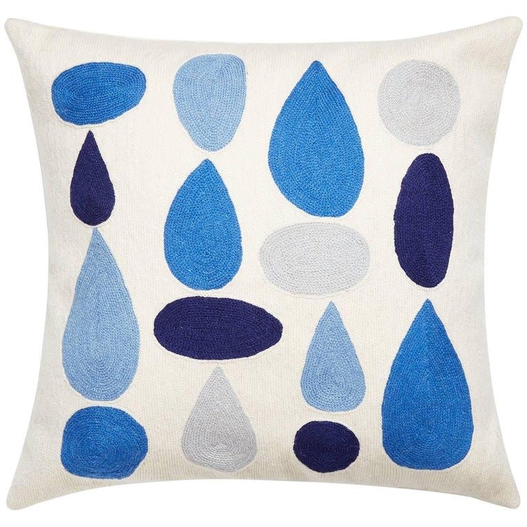 Geo Chain Stitch 'Drops' Throw Pillow