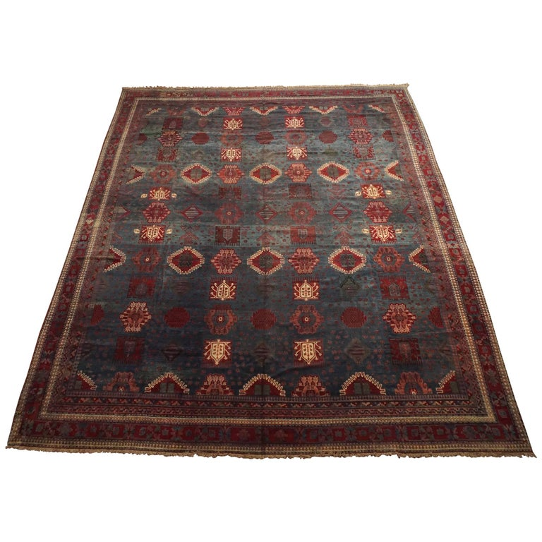 Antique Cotton Agra Rug With Abrash Circa 1900 For Sale: 19th Century Indian Agra Rug For Sale At 1stdibs
