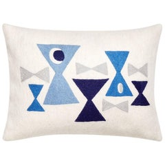 Geo Chain Stitch 'Bow Tie' Throw Pillow