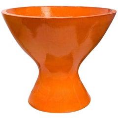 Okura Orange Stoneware Planter