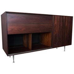 George Nelson & Assoc. Herman Miller Rosewood Thin Edge Series Credenza Dry Bar