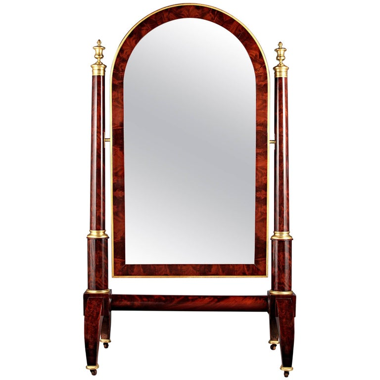 Empire-Period Cheval Mirror