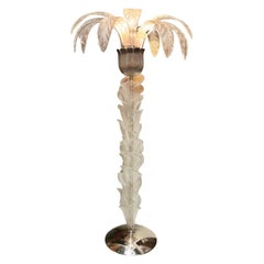 Pair of Murano Glass Palm Tree Floor Lamps