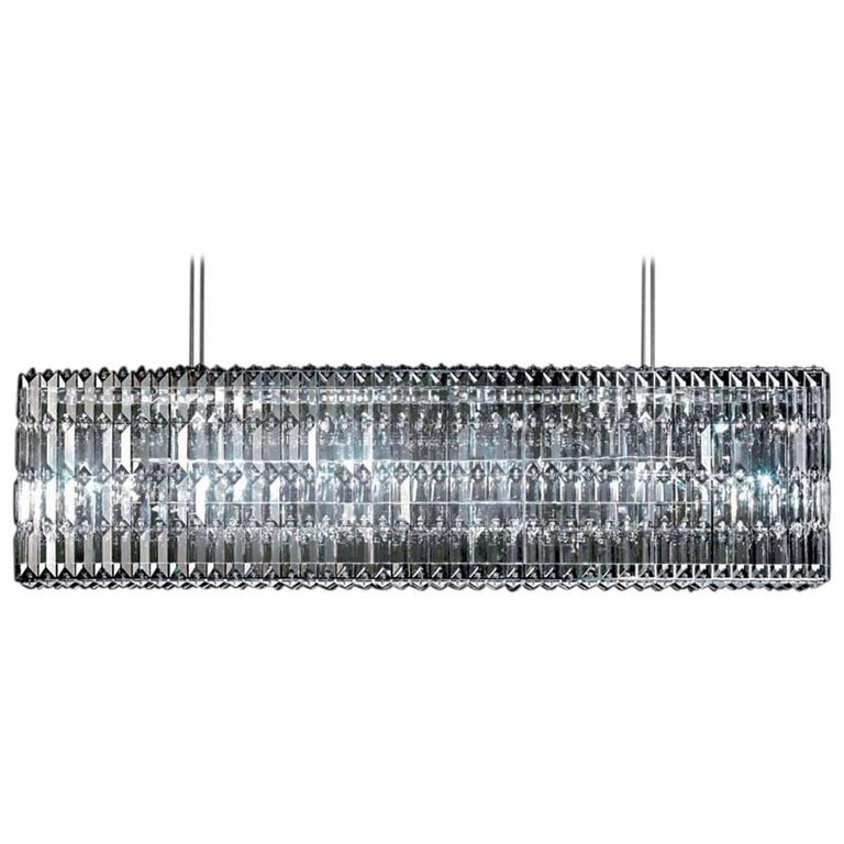 Swarovski Crystal Glitterbox Horizontal LED Suspension Lamp