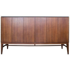 Paul McCobb Irwin Collection Sideboard Credenza Mahogany Marble Calvin Furniture