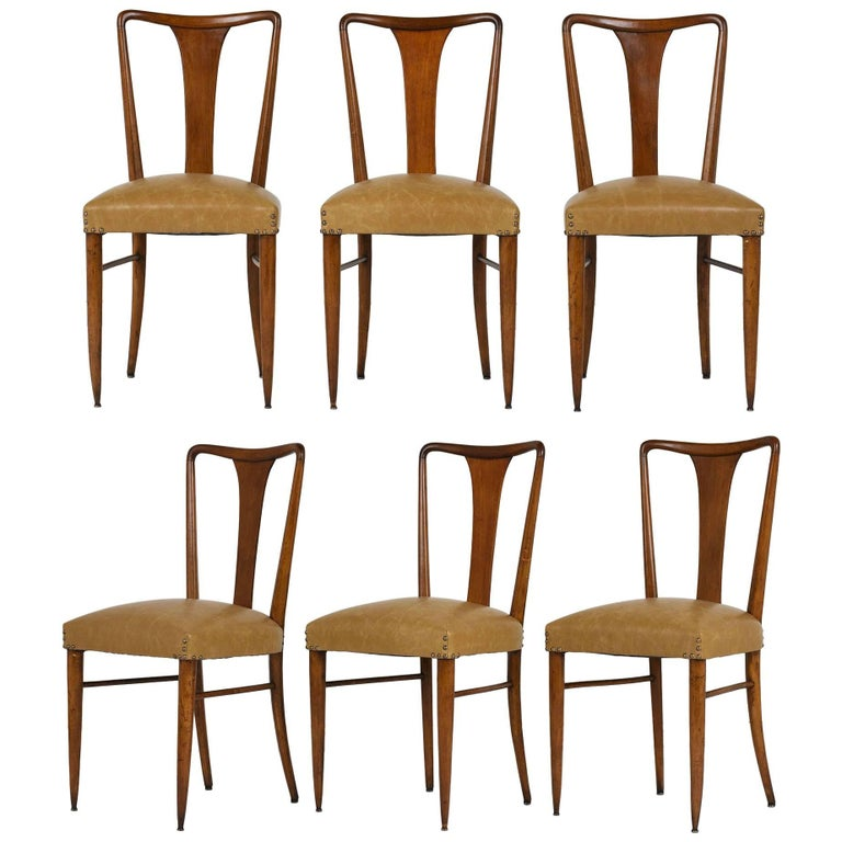 Set of Six Modern-Style Dining Chairs