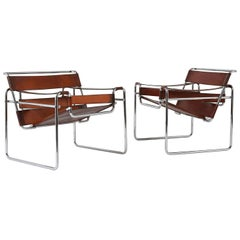 Pair of Marcel Breuer Wassily Lounge Chairs